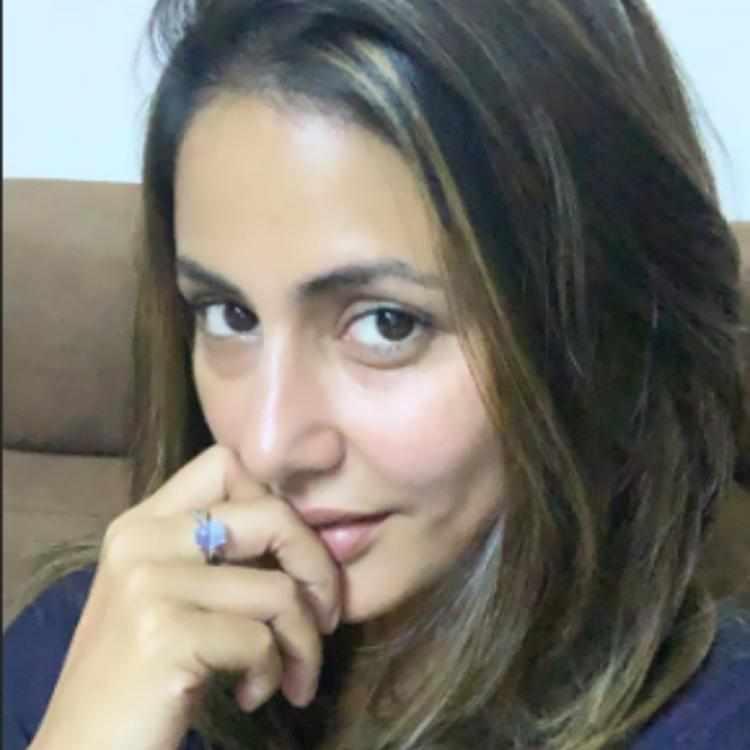 PHOTO: Hina Khan dyes her hair brown as she preps up for her next project