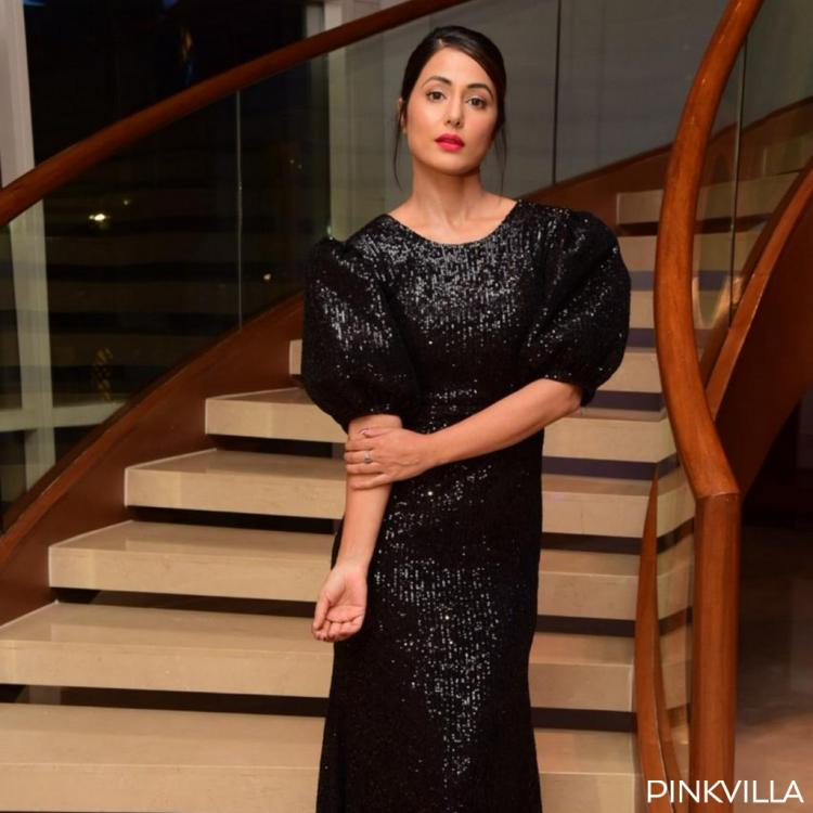 PHOTOS: Hina Khan looks every bit stunning and fashionable in her black shimmery gown