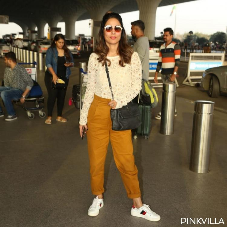 Photos: Hina Khan slays her airport look in shades of neutral as she gears up for 2020