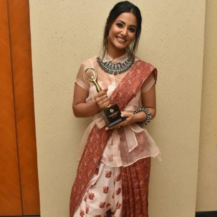 PHOTOS: Hina Khan looks stunning in an Indo Western outfit as she attends an award function