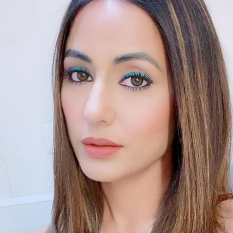 Hina Khan experiments with blue eye shadow again and shares a few PHOTOS leaving fans awestruck