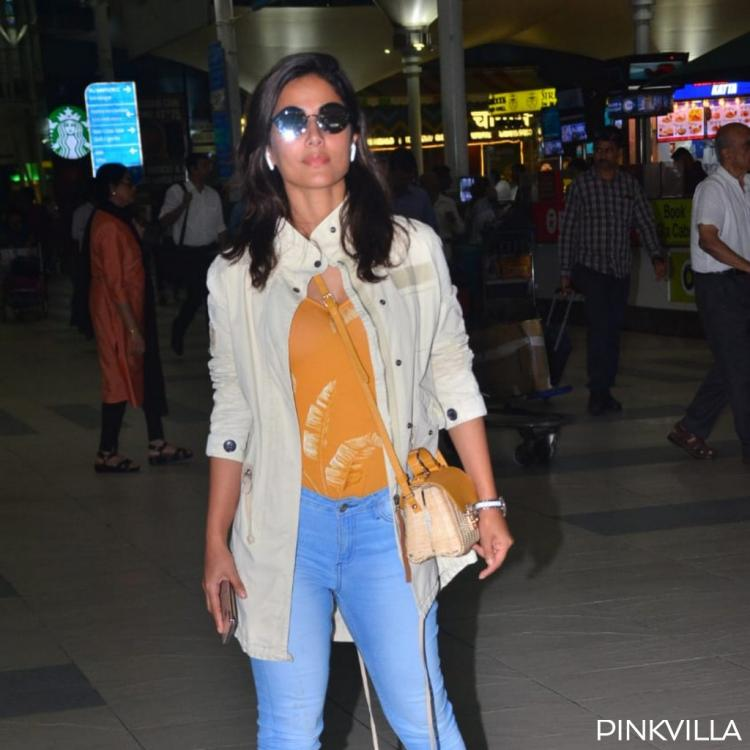 PHOTOS: Hina Khan floors us with yet another gorgeous yet comfortable airport look as she returns to the bay