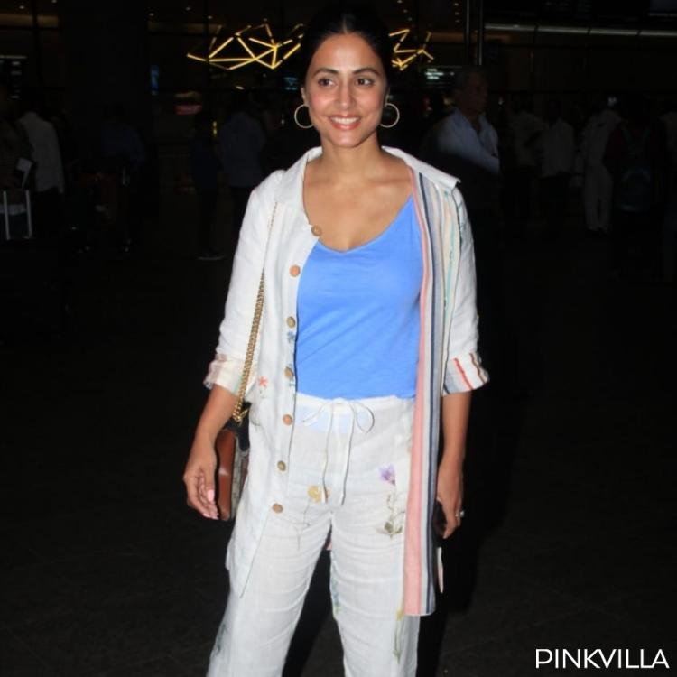 PHOTOS: Hina Khan opts for a deglam look as she arrives at the airport