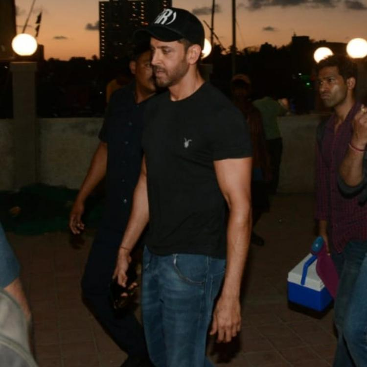 PHOTOS: Hrithik Roshan looks dapper in black & blue as he goes out in the city