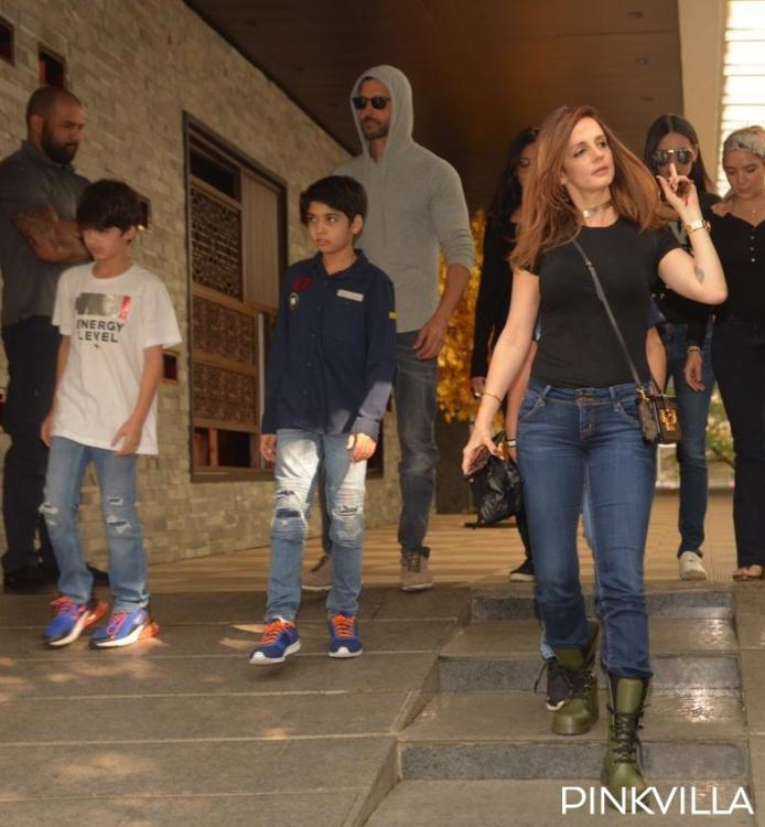 Hrithik Roshan enjoys Sunday luncheon with ex wife Sussanne Khan and sons Hridhaan and Hrehaan; see pics