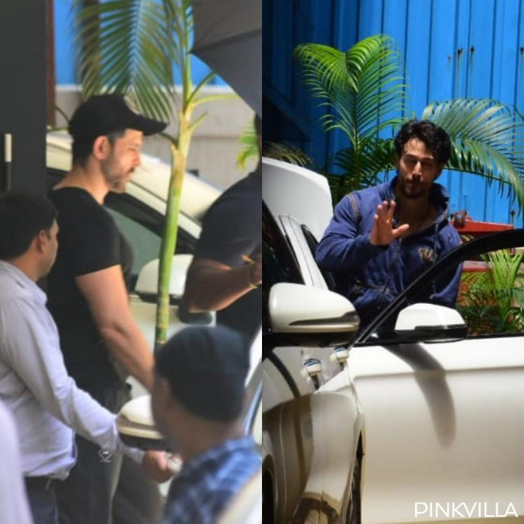 PHOTOS: War actors Hrithik Roshan & Tiger Shroff spotted post catching up for a meeting