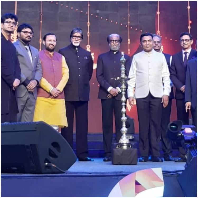 IFFI 2019: Rajinikanth and Amitabh Bachchan share the stage at the opening ceremony in Goa; See PHOTOS