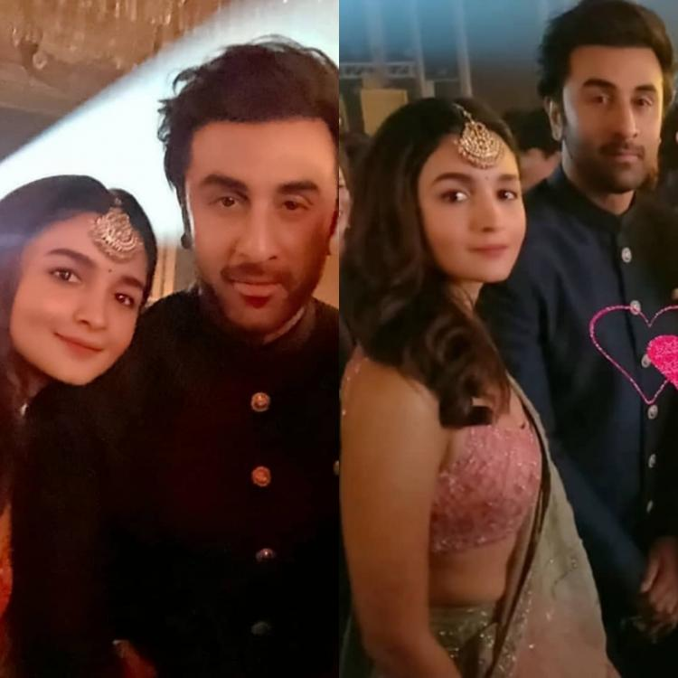Inside Photos: Ranbir Kapoor and Alia Bhatt look dazzling as they posed at Armaan and Anissa's reception