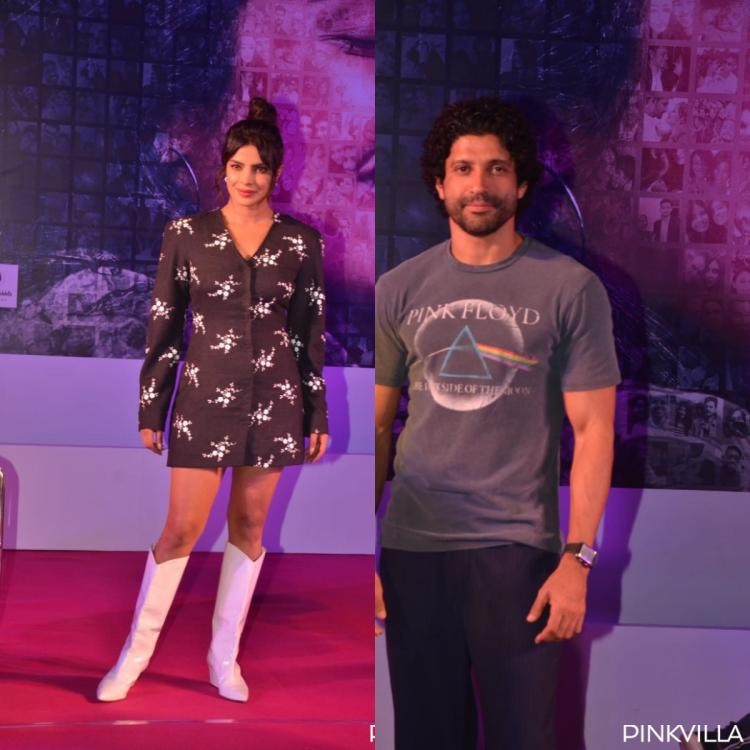 PHOTOS: Priyanka Chopra Jonas & Farhan Akhtar are all smiles at the promotional event of The Sky is Pink