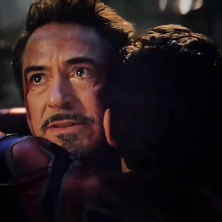 Avengers: Endgame: Iron Man and Spider Man hugging in MCU