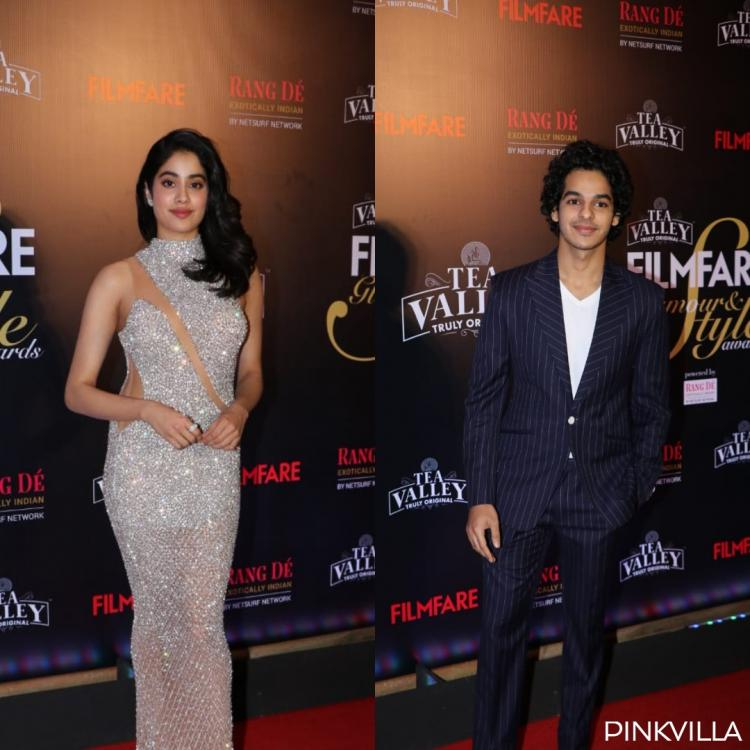 PHOTOS: Janhvi Kapoor shimmers all the way, Ishaan Khattar suits up at the Filmfare Glamour and Style Awards