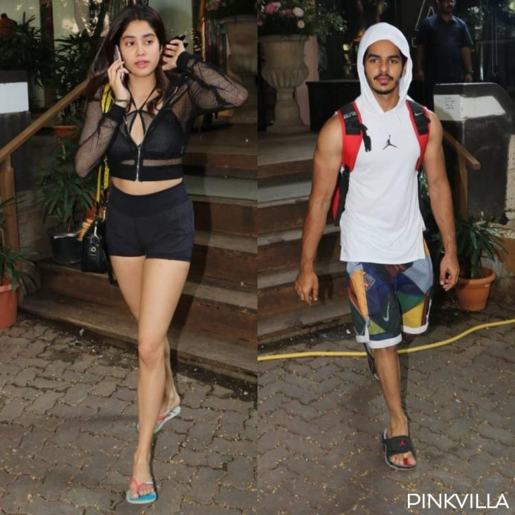 PHOTOS: Janhvi Kapoor and Ishaan Khatter begin the week on a healthy note as they hit the gym together