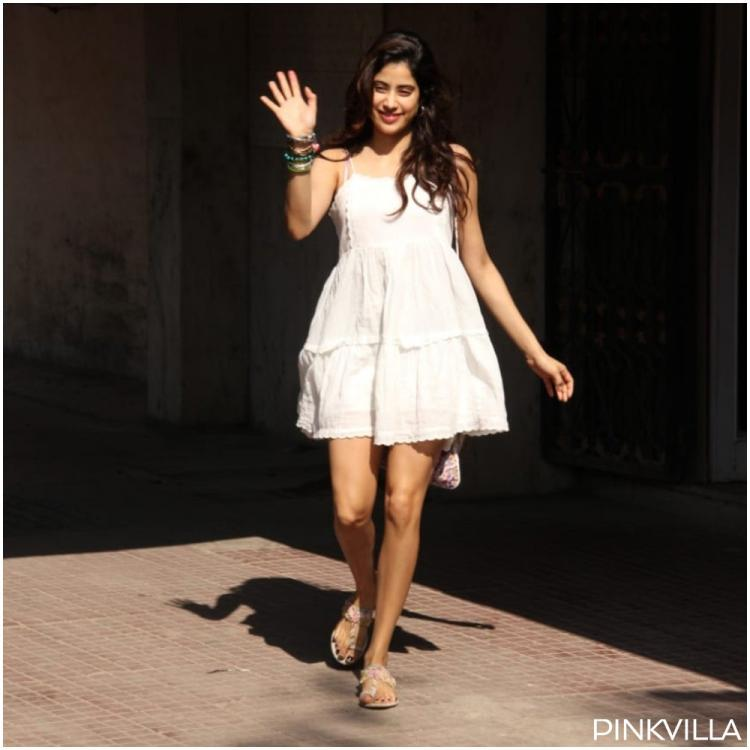 Janhvi Kapoor looks fresh as daisy as she exits from her Pilates session in a beautiful white dress; See Pics