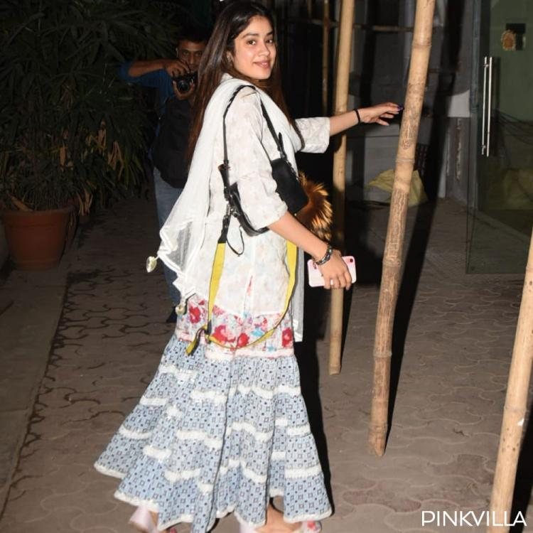 PHOTOS: Janhvi Kapoor looks like a breath of fresh air as she opts for an Indo-western outfit