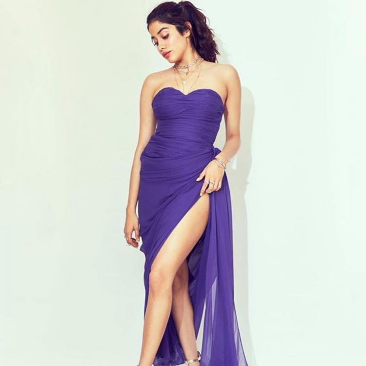 Janhvi Kapoor looks mesmerising as she rocks a gown with a thigh high slit & leaves netizens gasping; See Pics