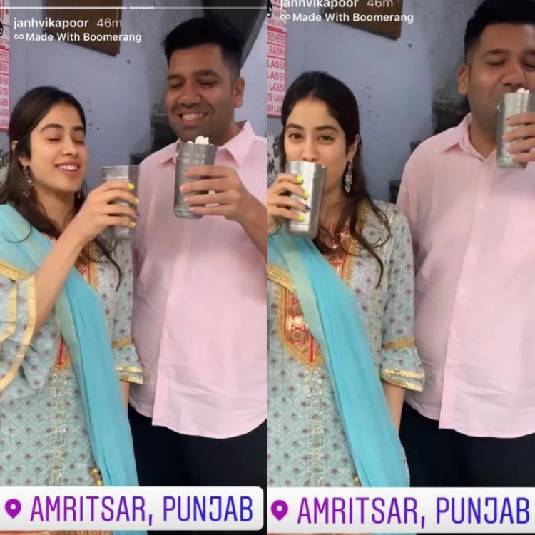 Janhvi Kapoor makes the most of her Amritsar trip as she visits Golden Temple and savours Lassi; See Pics