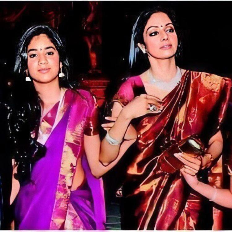 Janhvi Kapoor looks cute as she twins with Khushi Kapoor while holding Sridevi's hand in this throwback photo