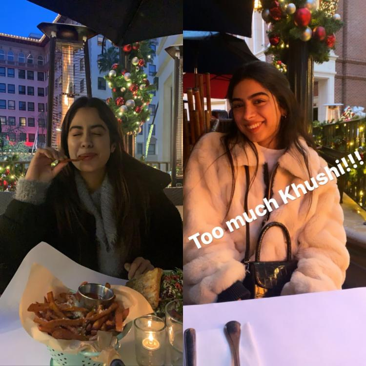 Janhvi Kapoor feels her life is complete with 'too much Khushi' and fries; See Pics