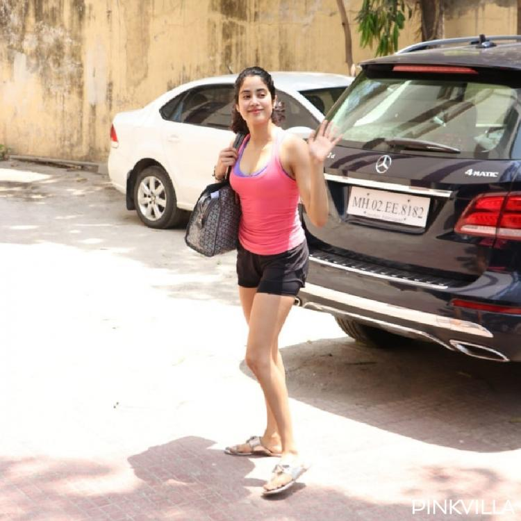 PHOTOS: Janhvi Kapoor looks every bit of a diva as she gets spotted outside her gym today