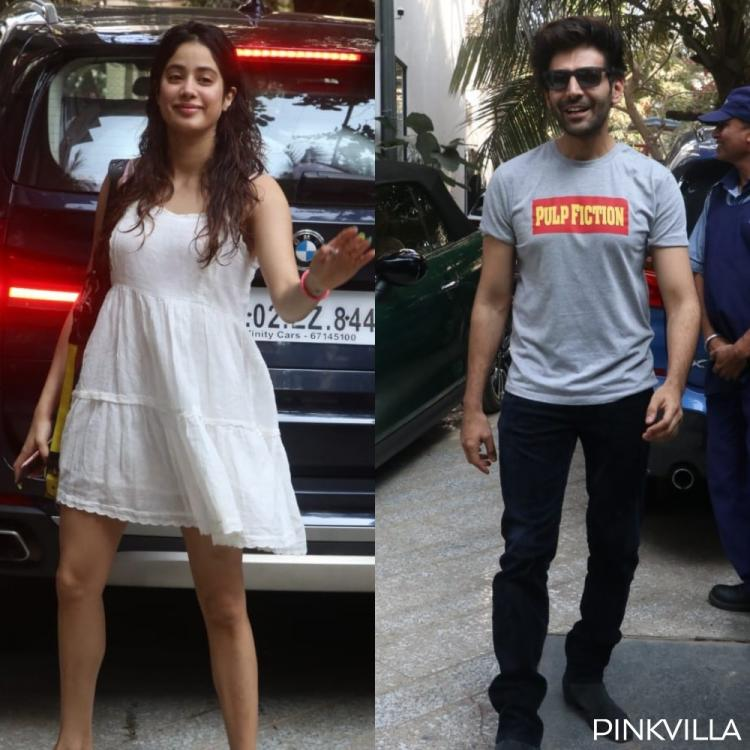 PHOTOS: Dostana 2 actors Janhvi Kapoor and Kartik Aaryan are all smiles as they step out in the city