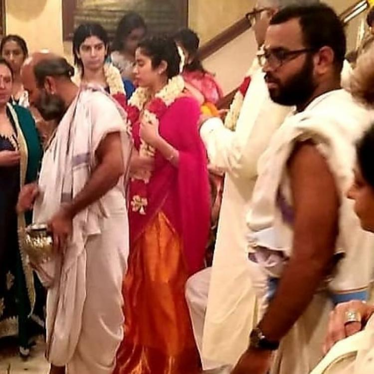 Sridevi Death Anniversary: Janhvi Kapoor and Khushi Kapoor attend a pooja ceremony in Chennai; view inside pics