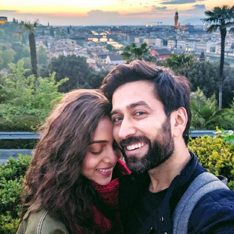 Nakuul Mehta & Jankee Parekh's love struck picture with a breathtaking view of Italy will leave you awestruck