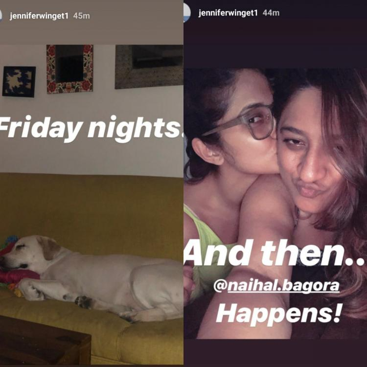 Jennifer Winget has her Friday night sorted with Breezer and a friend as company; view PICS