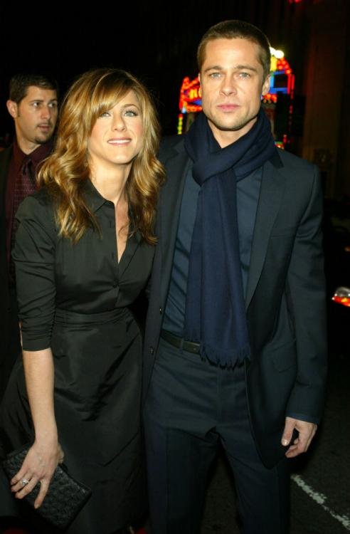 Brad Pitt attended Jennifer Aniston's 50th birthday celebration in February 2019.
