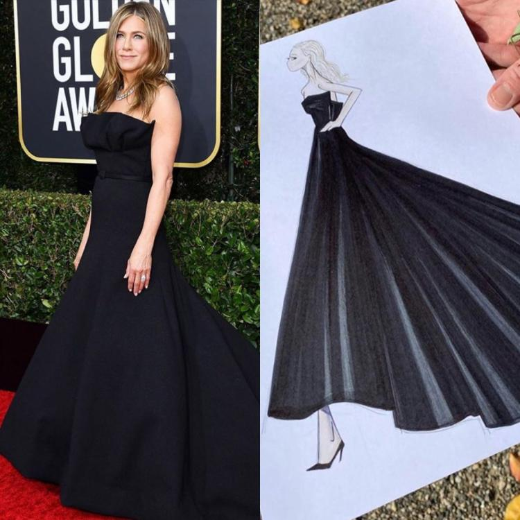 Jennifer Aniston's Dior outfit at Golden Globes 2020 took over 200 hours to make