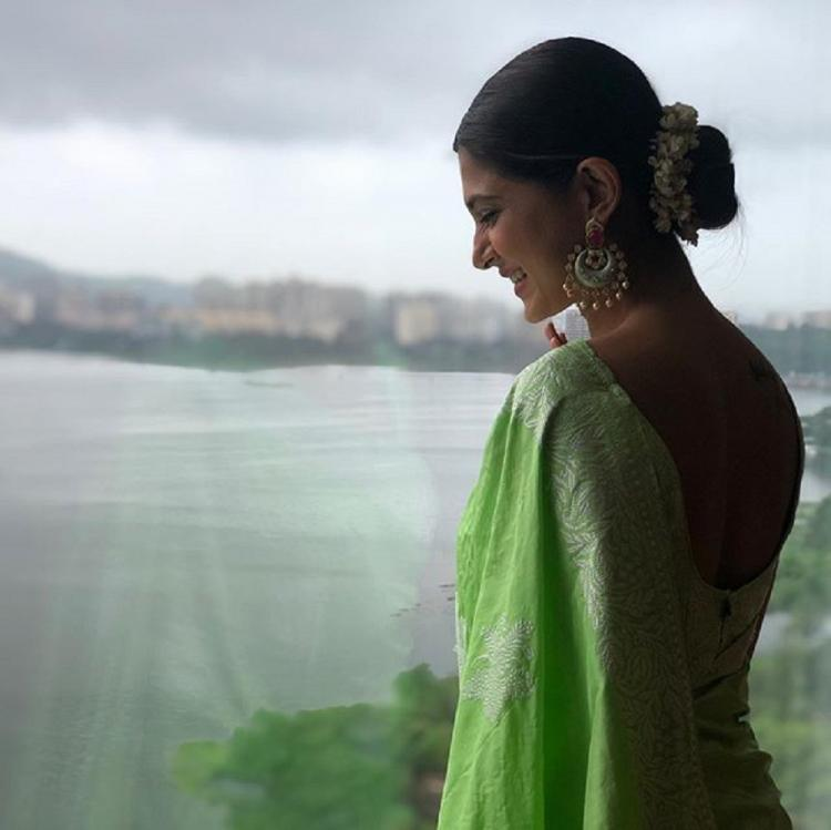 Jennifer Winget looks ethereal in a saree for a wedding & her pics will beat away your Monday blues