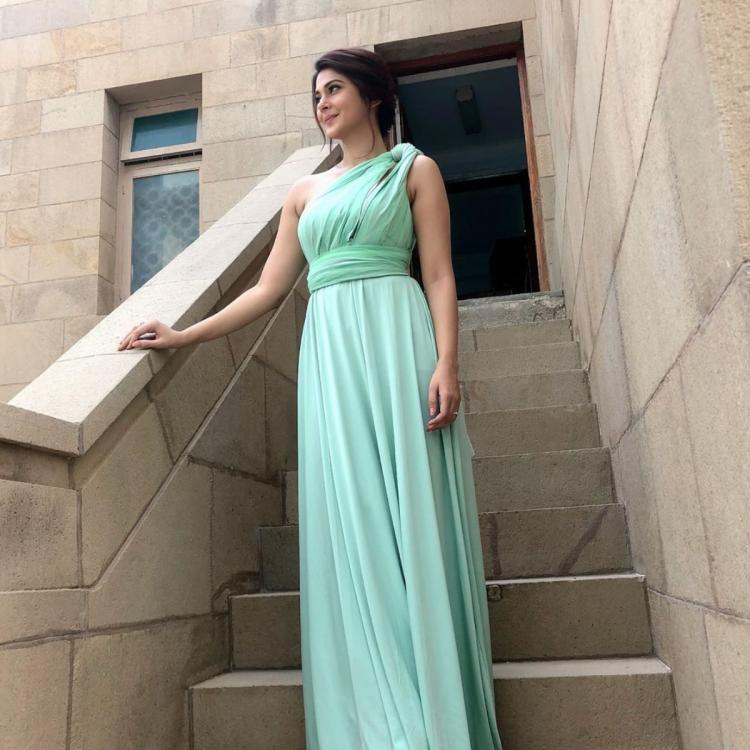 Jennifer Winget looks like a vision in sea green hued gown as she attends her bestie's wedding; View Pic