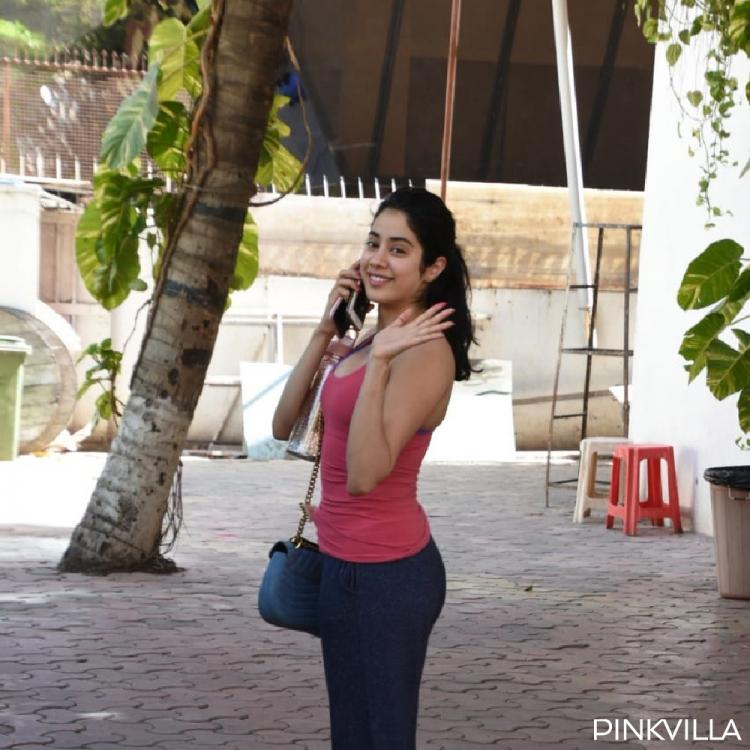 PHOTOS: Janhvi Kapoor waves back to the shutterbugs as she was snapped outside her gym