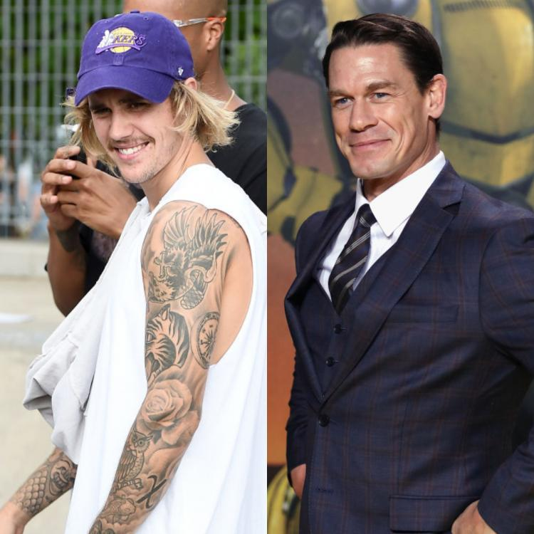 John Cena was sure to use his trademark 'You Can't See Me' catchphrase at Justin Bieber's photoshop dig.