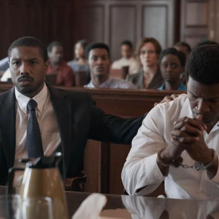 Brie Larson,Jamie Foxx,Michael B Jordan,Hollywood,Just Mercy,Just Mercy trailer