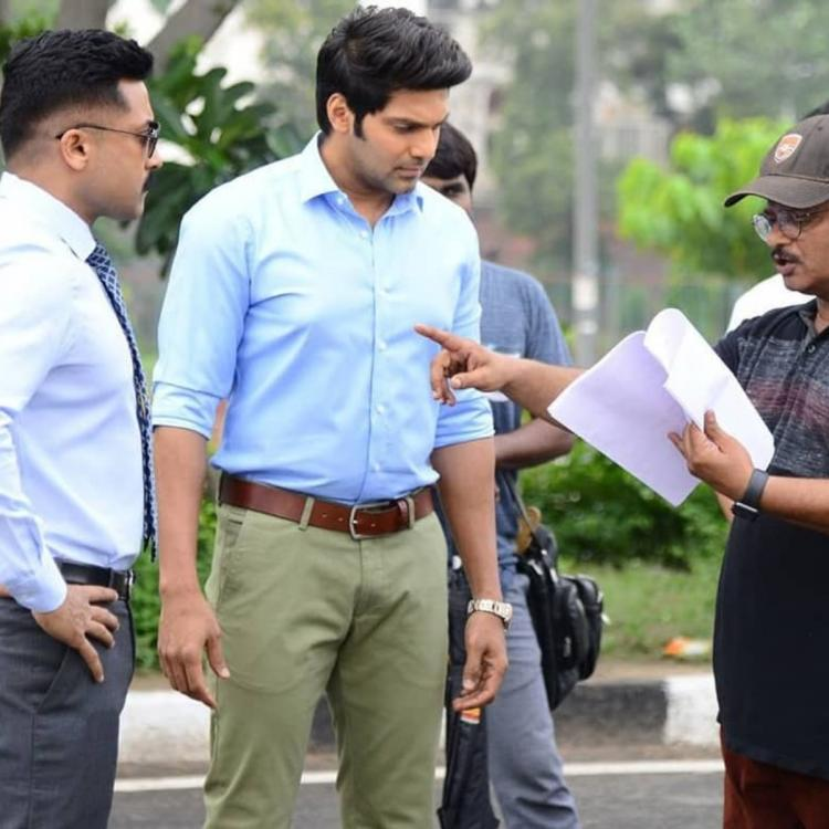 Kaappaan: The latest behind the scene picture features actor Suriya alongside Arya
