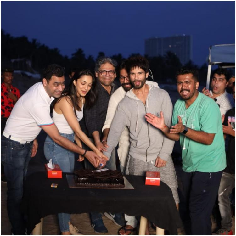 Shahid Kapoor and Kiara Advani celebrate as they wrap up the shoot for Kabir Singh; view PICS