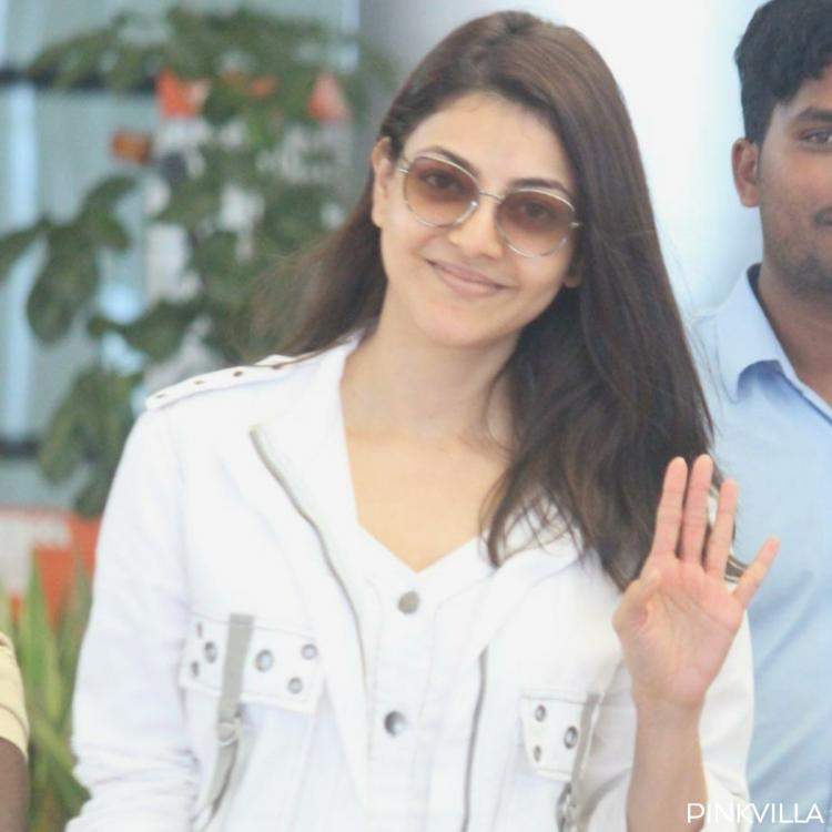Kajal Aggarwal flaunts her natural beauty as she goes makeup free at the Hyderabad airport; View pics