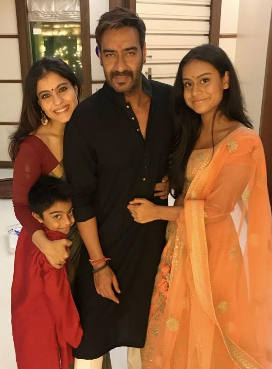 Kajol And Ajay Devgan Family