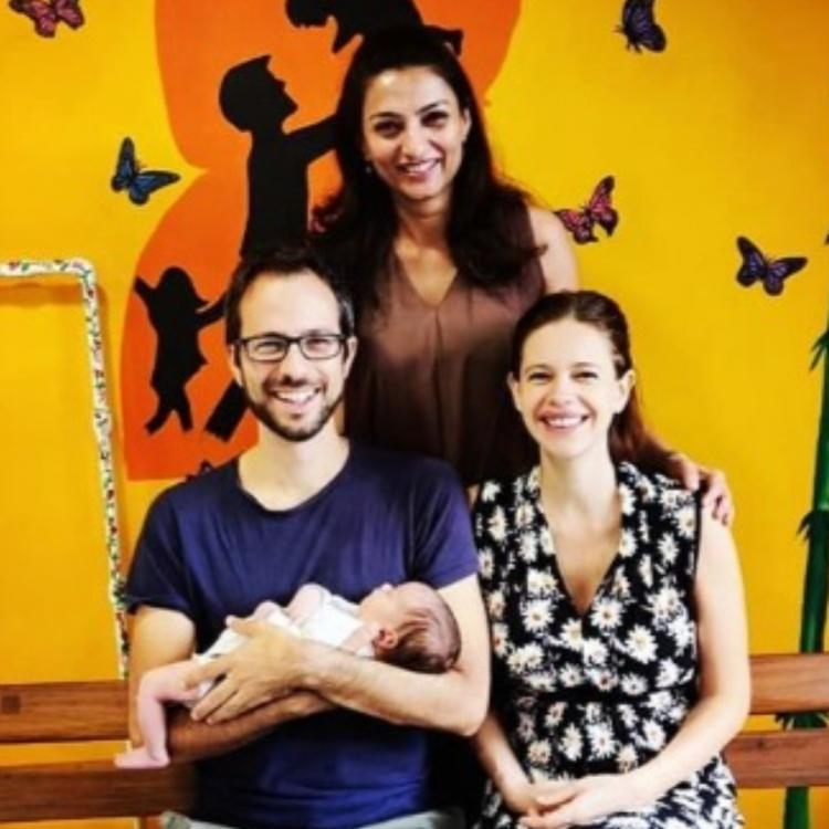 PHOTOS: Kalki Koechlin & Guy Hershberg share the first glimpse of their new born daughter Sappho
