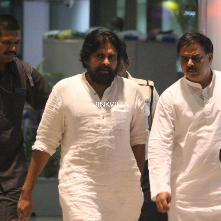 PHOTOS: Pawan Kalyan spotted at the airport in an all white look