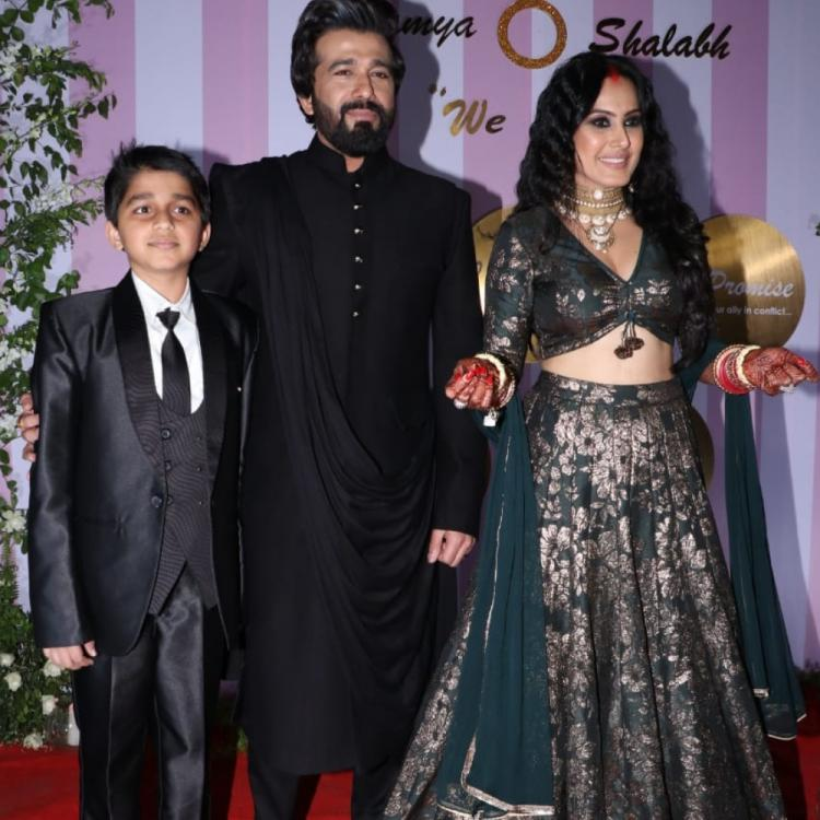 Kamya Punjabi dances her heart out with beau Shalabh Dang & son Ishaan at their wedding reception; Watch VIDEO