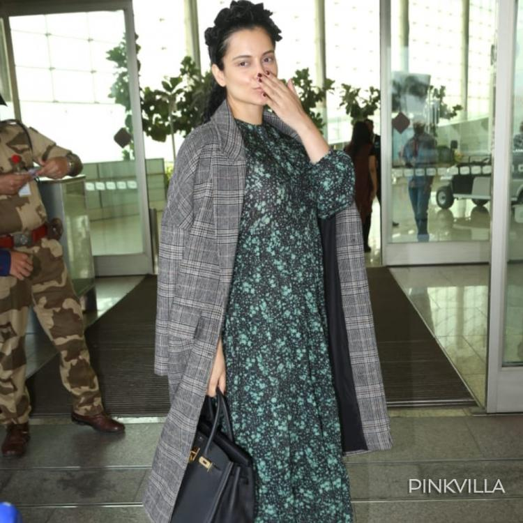 Kangana Ranaut shells out major boss lady vibes as she heads to the airport in her Thalaivi mode