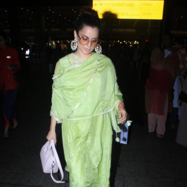 PHOTOS: Kangana Ranaut looks pretty as she slays in yet another of her traditional looks; Check it out