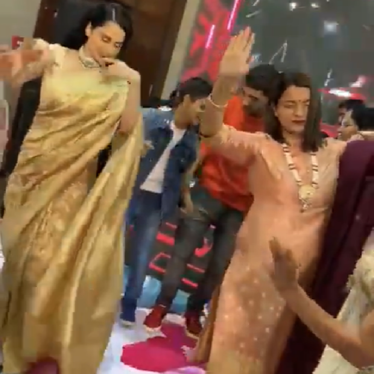 Kangana Ranaut is a happy soul as she performs Himachali folk dance 'Natti' at her brother's engagement; WATCH
