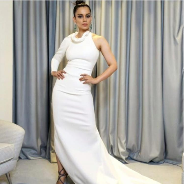 Cannes 2019: Kangana Ranaut continues winning hearts as she adds a dash of blue & green to her white ensemble