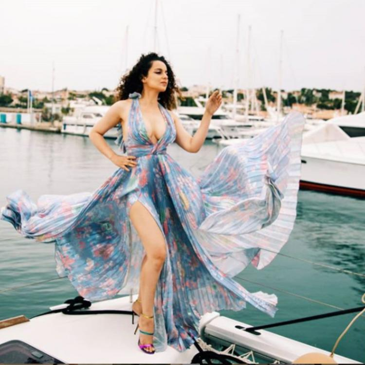 Cannes 2019: Kangana Ranaut is stealing hearts with her curls and the thigh slit at the French Riviera