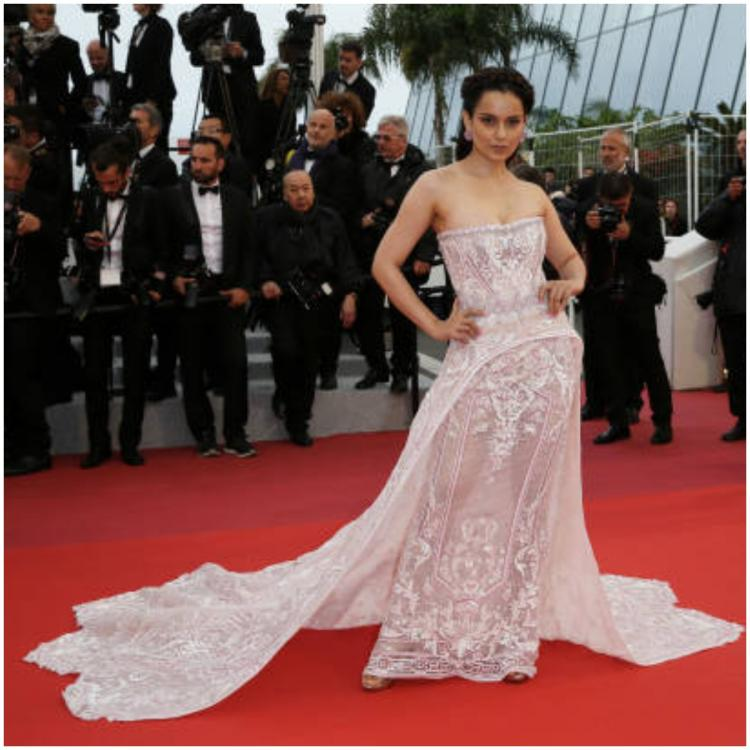 Cannes 2019: Kangana Ranaut looks like a dream in a white embellished gown