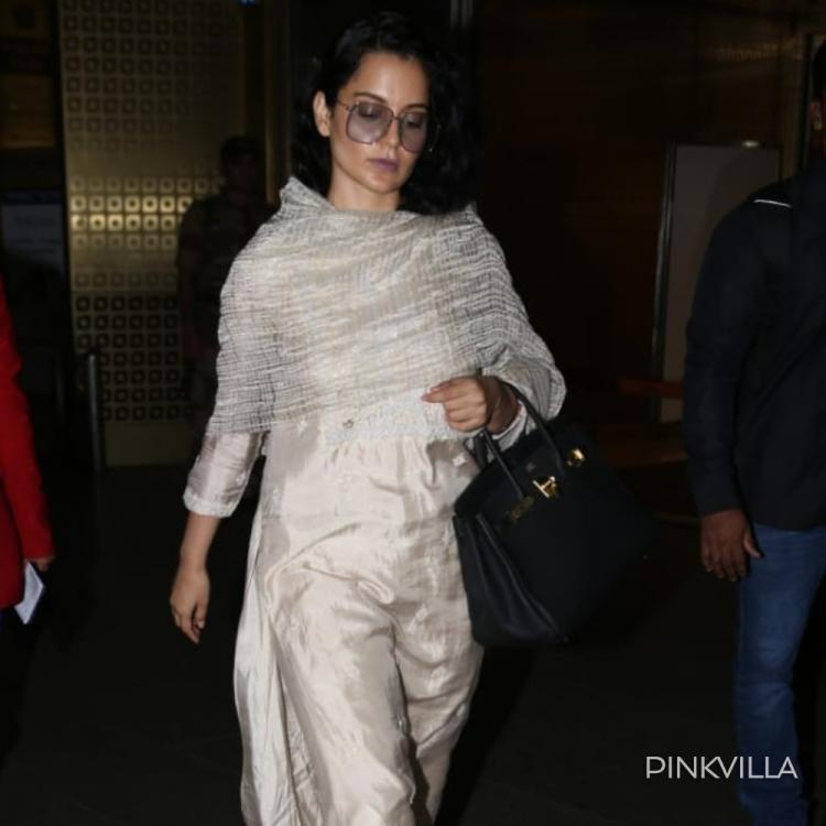 Kangana Ranaut looks classy as she opts for retro glasses with ethnic wear; See Pics