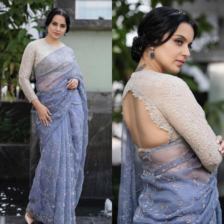 Kangana Ranaut in a saree by Jade personifies grace and finesse; Yay or Nay?