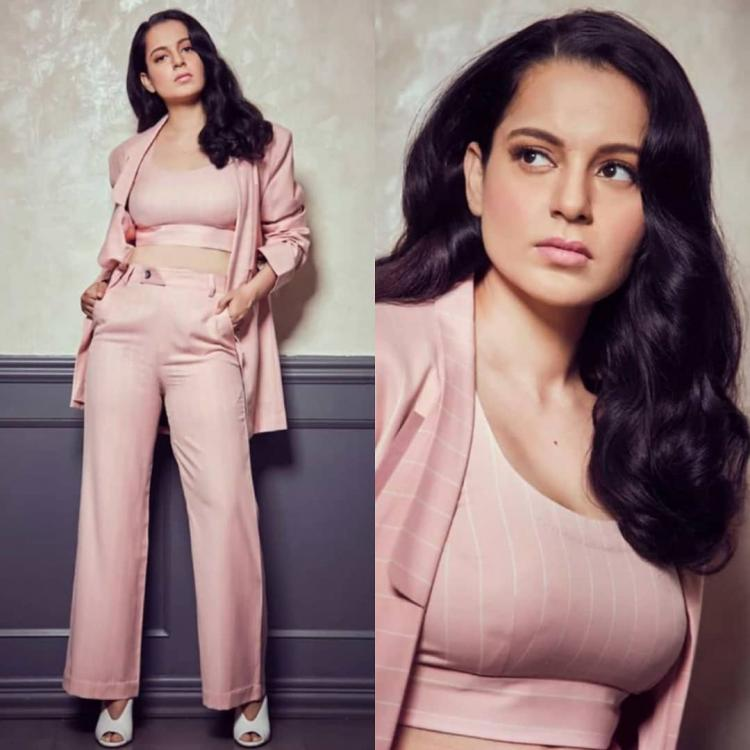 Kangana Ranaut slays a monochromatic outfit by Two Point Two for Panga promotions; Yay or Nay
